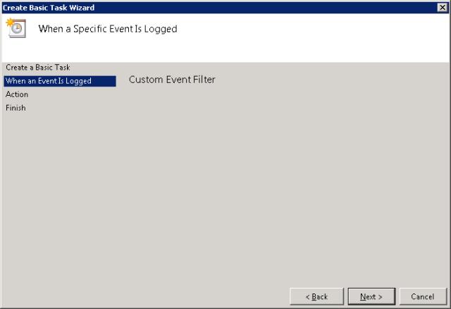 Custom Event Filter
