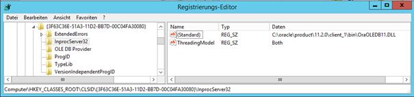 Oracle DLL registry settings